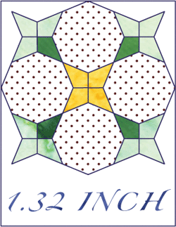 Periwinkle Octagon 1 32 Inch