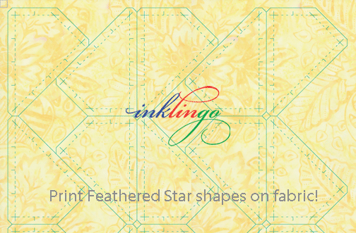 Print Feathered Star shapes on fabric