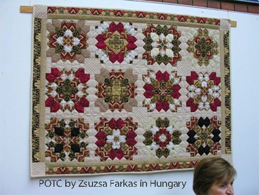 Patchwork of the Crosses (POTC) by Zsuzsa in Hungary