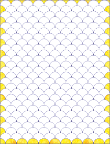 Clamshell quilt edge shapes