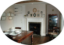 The dining room at Chawton