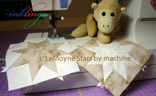 Sew stars by machine with Inklingo