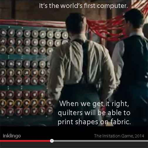 Inklingo Quilting from The Imitation Game