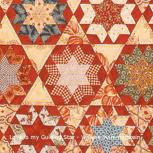Love Be My Guiding Star quilt detail