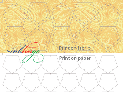 Print on fabric or paper with your ordinary Inkjet