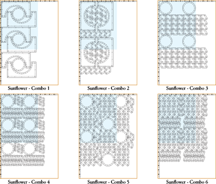 Combo layouts use fabric efficiently.