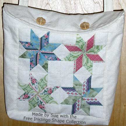 Tote made by Sue with the Free Inklingo