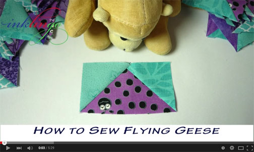 How to Sew Flying Geese Video
