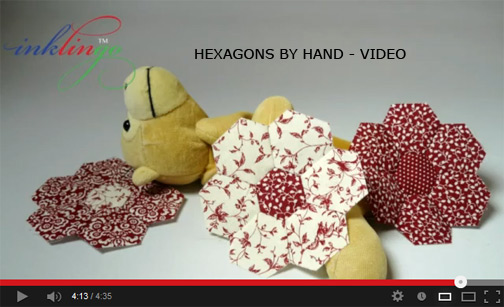 How to sew hexagons by hand