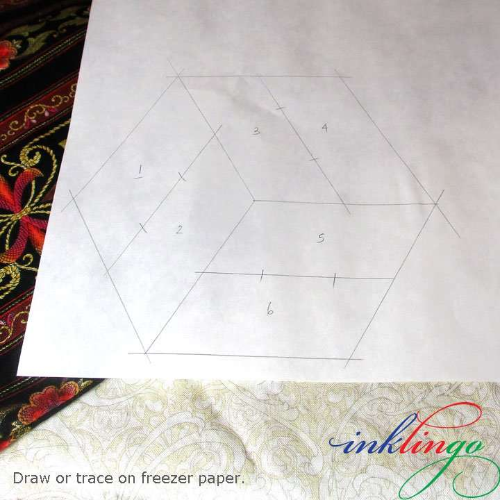 Trace or draw on freezer paper