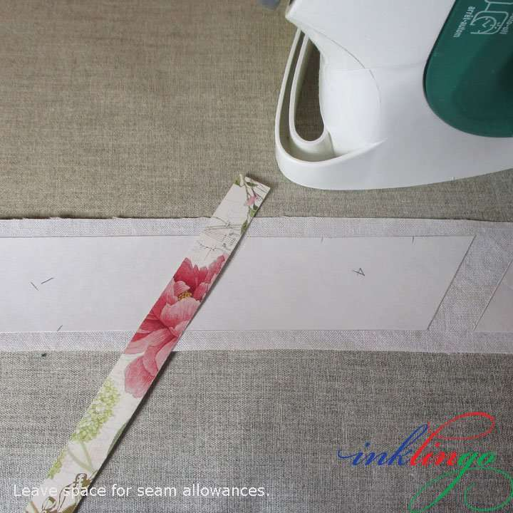 Iron freezer paper templates to the wrong side of fabric