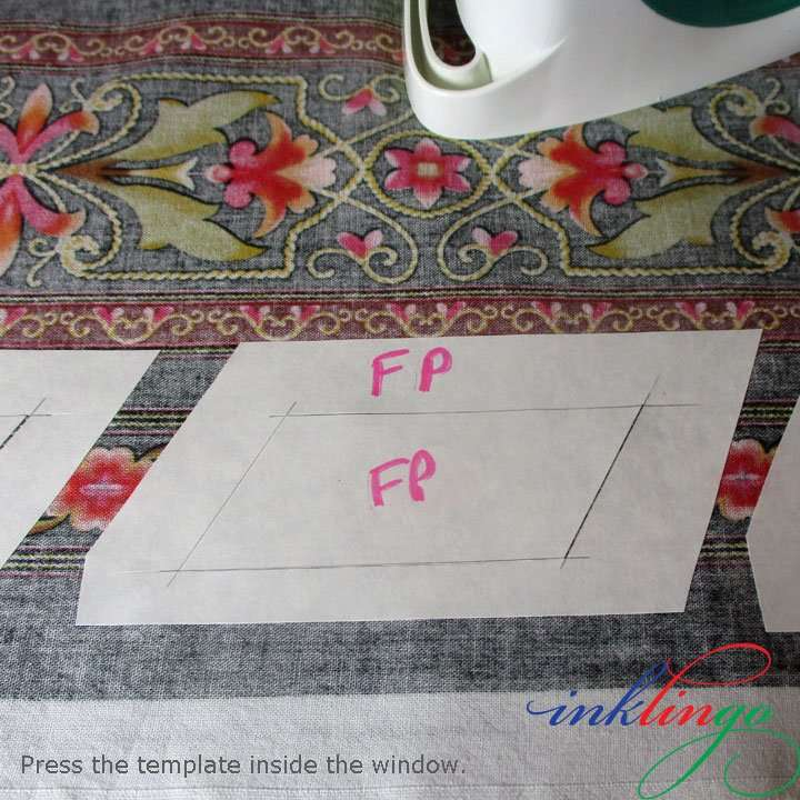 Fussy cut with freezer paper templates