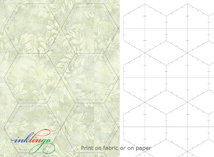 Print hexagons on fabric or paper with Inklingo