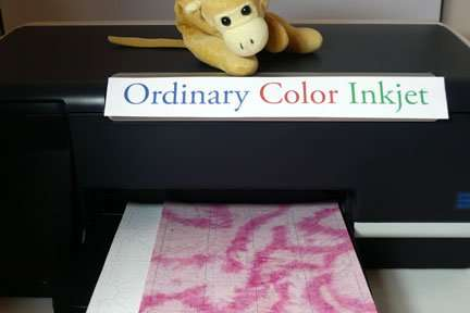 Print shapes on fabric with Inklingo