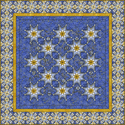 Inklingo Feathered Star Quilt