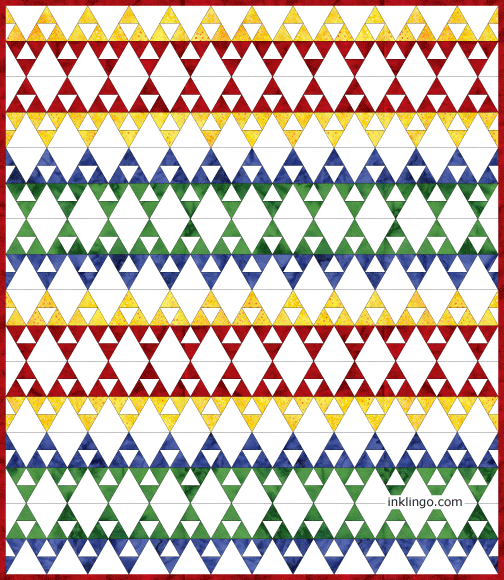 60 Degree Triangle Quilts – All About Inklingo Blog : 60 degree triangle quilt - Adamdwight.com