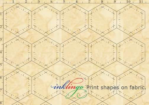 Print shapes on fabric with your Inkjet printer.