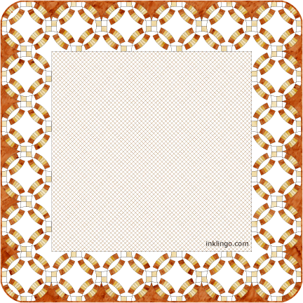 Double Wedding Ring Quilts With On Point Settings All About Inklingo Blog