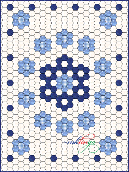 Free Quilt Pattern For Hexagon : All About Inklingo Blog Archive Inklingo Hexagons in Electric Quilt
