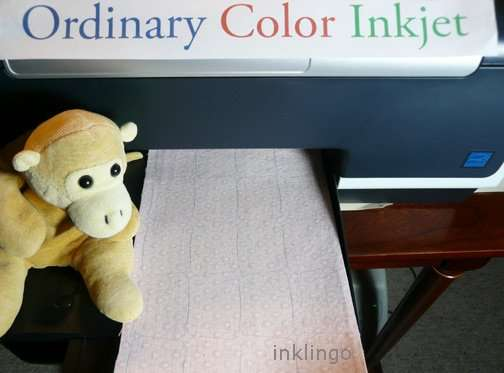 Print with your ordinary Inkjet