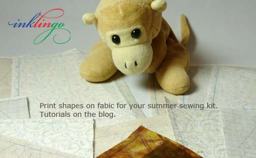 Print shapes on fabric with Inklingo.