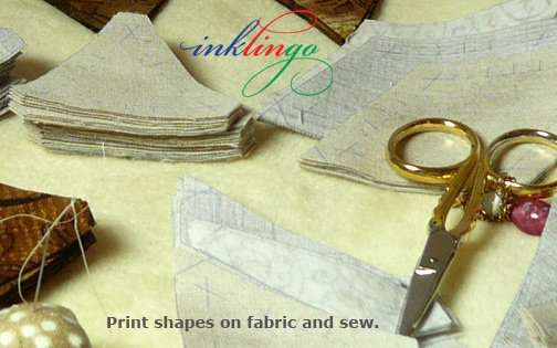 Print shapes on fabric with Inklingo and sew anywhere.