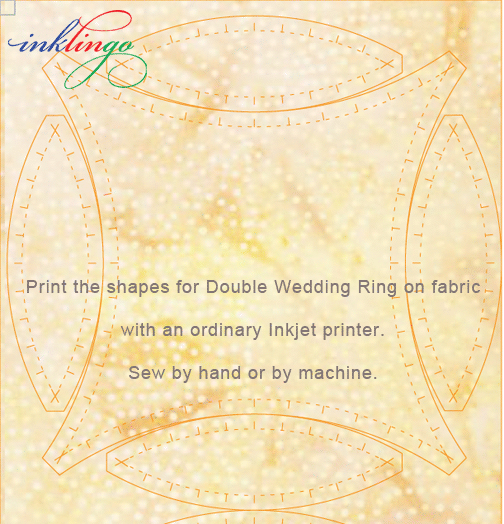 Print Double Wedding Ring Shapes on fabric with Inklingo