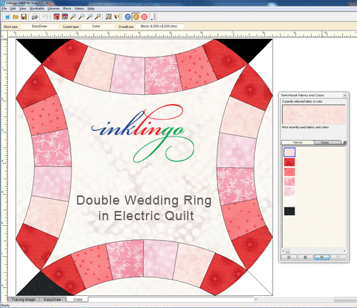 Double Wedding Ring in Electric Quilt