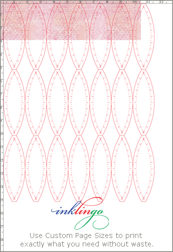 Inklingo Double Wedding Ring shapes to print on fabric.
