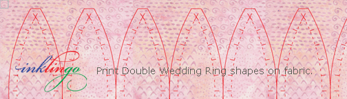 Inklingo Double Wedding Ring shapes to print on fabric