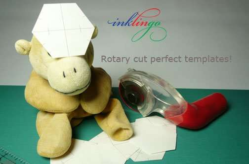 Rotary cut for perfect templates.