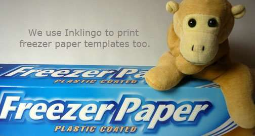Freezer paper is my favorite template material.