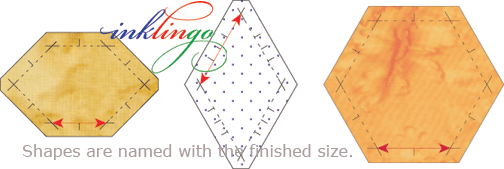 Inklingo shapes are named with the finished sizes.