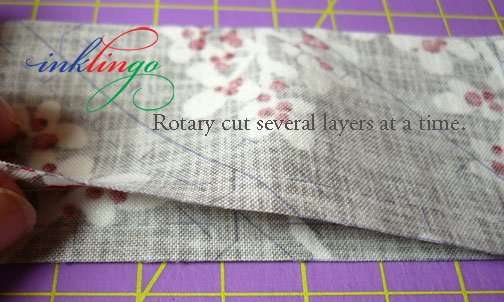 Rotary cut several layers at a time with Inklingo.