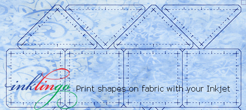 Inklingo Print shapes on fabric with your Inkjet