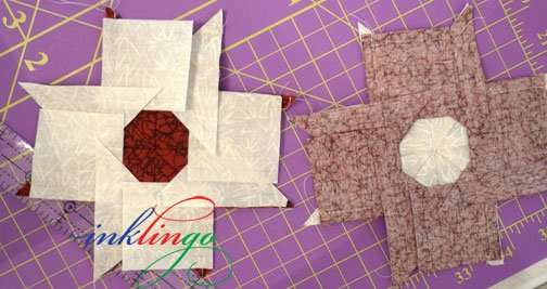 How to sew 8 pointed stars.