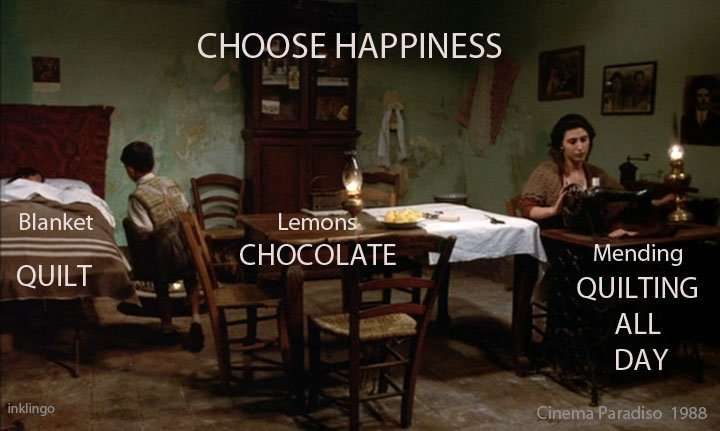 Choose Happiness! Be a Quilter!