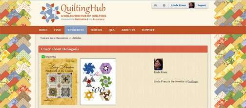 Crazy about Hexagons on QuiltingHub