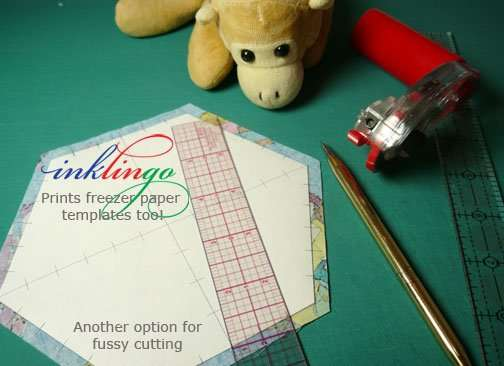 Inklingo Fussy Cutting with freezer paper templates