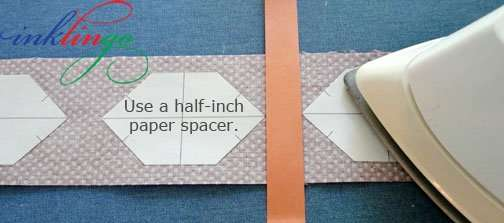 Use a 0.5 inch spacer between shapes.