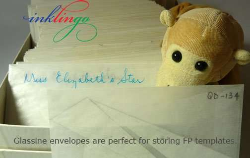 Glassine envelopes are perfect for storing templates.
