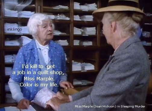 Miss Marple - Color is my life.