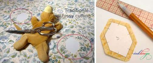 Traditional fussy cutting with Inklingo