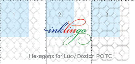 Hexagons to print on fabric for POTC