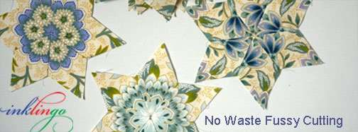 Inklingo No Waste Fussy Cutting for 6 pointed Stars!