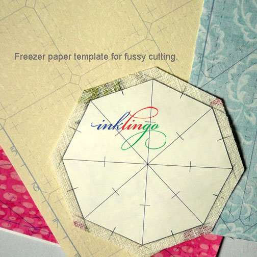 Inklingo Freezer Paper Template for Fussy Cutting