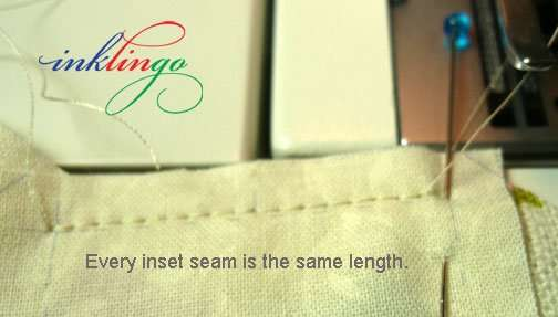 All of the seams are the same length.