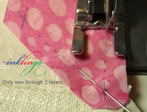 Sew through two layers.