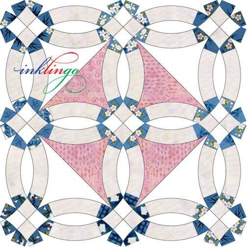 Lucy Boston style Double Wedding Ring Quilt