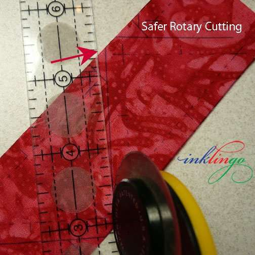 Safe rotary cutting with Inklingo